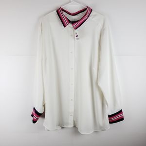 NWT Charter Club Long Sleeves Blouse Size XXL